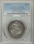 Seated Half Dollars, 1839 50C Drapery -- Cleaned -- PCGS Genuine. XF Details. NGC Census: (10/144). PCGS Population: (45/198). CDN: $225 Whsle. ...
