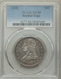 Reeded Edge Half Dollars, 1838 50C XF40 PCGS. PCGS Population: (204/1179). NGC Census: (84/984). XF40. Mintage 3,546,000. ...