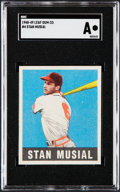 Baseball Cards:Singles (1940-1949), 1948 Leaf Stan Musial #4 SGC Authentic....