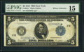 Fr. 851c* $5 1914 Federal Reserve Star Note PMG Choice Fine 15