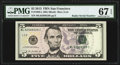 "Fr. 1996-L $5 2013 Federal Reserve Note with ""Radar"" Serial Number 82588528. PMG Superb Gem Unc 67 EPQ"