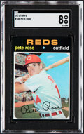 Baseball Cards:Singles (1970-Now), 1971 Topps Pete Rose #100 SGC NM/MT 8....