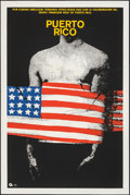 """Movie Posters:Foreign, Puerto Rico (1975). Rolled, Very Fine. Silk Screen Cuban Poster (20"""" X 30""""). Foreign.. ..."""