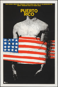 """Puerto Rico (1975). Rolled, Very Fine. Silk Screen Cuban Poster (20"""" X 30""""). Foreign"""
