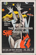 "Movie Posters:Science Fiction, The Astounding She Monster (American International, 1958). Folded, Fine+. One Sheet (27"" X 41""). Albert Kallis Artwork. Scie..."