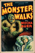 "Movie Posters:Horror, The Monster Walks (Astor Pictures, R-1938). Folded, Fine/Very Fine. One Sheet (27"" X 41""). Horror.. ..."