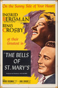 """Movie Posters:Drama, The Bells of St. Mary's (NTA Pictures, R-1957). Folded, Fine+. One Sheet (27"""" X 41""""). Drama.. ..."""