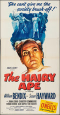 "Movie Posters:Drama, The Hairy Ape (United Artists, 1944). Folded, Fine/Very Fine. Three Sheet (41"" X 79""). Drama.. ..."