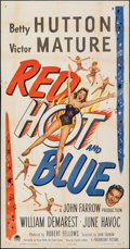 "Movie Posters:Comedy, Red, Hot and Blue (Paramount, 1949). Folded, Fine/Very Fine. Three Sheet (41"" X 79""). Comedy.. ..."