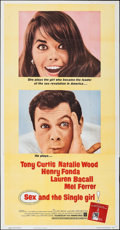 "Movie Posters:Comedy, Sex and the Single Girl (Warner Bros., 1964). Folded, Very Fine. Three Sheet (41"" X 79""). Comedy.. ..."