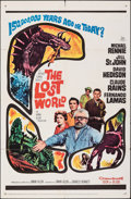 """Movie Posters:Science Fiction, The Lost World (20th Century Fox, 1960). Folded, Fine/Very Fine. One Sheet (27"""" X 41"""") & Title Lobby Card (11"""" X 14""""). Scien... (Total: 2 Items)"""
