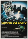"Movie Posters:Thriller, Cat's Eye (Film Auro, 1985). Folded, Fine/Very Fine. Italian 2 - Fogli (39.25"" X 55""). Enzo Sciotti Artwork. Thriller.. ..."