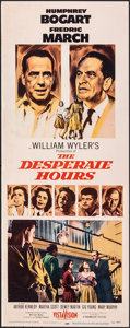 "Movie Posters:Film Noir, The Desperate Hours (Paramount, 1955). Folded, Fine/Very Fine. Insert (14"" X 36""). Film Noir.. ..."