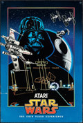 "Movie Posters:Science Fiction, Star Wars: The Coin Video Experience (Atari, 1983). Rolled, Fine/Very Fine. Poster (20"" X 30""). Science Fiction.. ..."