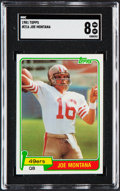 Football Cards:Singles (1970-Now), 1981 Topps Joe Montana #216 SGC NM/MT 8....