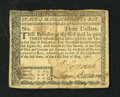 Colonial Notes:Massachusetts, Massachusetts May 5, 1780 $3 Fine-Very Fine. A few edge blemishesare noticed along with a spot on the back from a mounting....