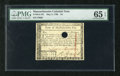Colonial Notes:Massachusetts, Massachusetts May 5, 1780 $4 PMG Gem Uncirculated 65EPQ. AMassachusetts note of exceptional quality as the margins areplen...