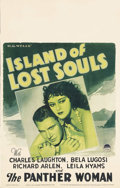 """Movie Posters:Horror, Island of Lost Souls (Paramount, 1933). Window Card (14"""" X 22"""").Charles Laughton, Bela Lugosi and Richard Arlen star in thi..."""