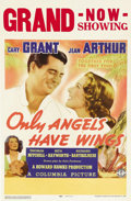 """Movie Posters:Drama, Only Angels Have Wings (Columbia, 1939). Window Card (14"""" X 22""""). Howard Hawks directs this drama about mail pilots working ..."""