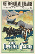 "Movie Posters:Western, The Covered Wagon (Paramount, 1923). Window Card (14"" X 22"").Considered the epic Western of its day, this film was based on..."