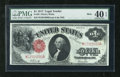Fr. 38 $1 1917 Mule Legal Tender PMG Extremely Fine 40EPQ. A lot of kick is exhibited by this legal tender ace that has...