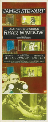 """Rear Window (Paramount, 1954). Insert (14"""" X 36""""). It was amazing that this film could be nominated for Best C..."""