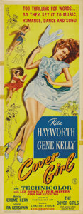 "Movie Posters:Comedy, Cover Girl (Columbia, 1944). Insert (14"" X 36""). Rita Hayworthdazzles as she dances her way to fame alongside Gene Kelly! H..."