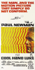 "Movie Posters:Drama, Cool Hand Luke (Warner Brothers, 1967). Australian Three Sheet (41""X 81""). Paul Newman plays one of moviedom's most famous ..."