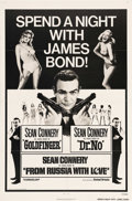 "Movie Posters:Action, James Bond Combo Posters (United Artists, 1965 -1972). (5) One Sheets (27"" X 41""). Sean Connery is James Bond to the die-har... (Total: 5 Item)"