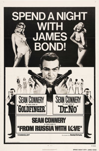 """James Bond Combo Posters (United Artists, 1965 -1972). (5) One Sheets (27"""" X 41""""). Sean Connery is James Bond..."""