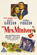 "Movie Posters:War, Mrs. Miniver (MGM, 1942). Australian One Sheet (27"" X 41""). Awonderful ensemble cast dealing with life in England as the wa..."