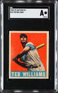 Baseball Cards:Singles (1940-1949), 1948 Leaf Ted Williams #76 SGC Authentic....