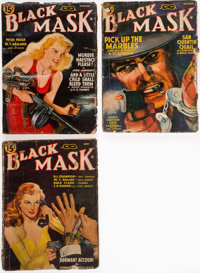[Pulp Magazines]. Three Issues of Black Mask Magazine. Chicago: Fictioneers, 1941-1942.... (Total: 3 Items)