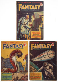 [Three issues of:] Fantasy. A Magazine of Thrilling Science-Fiction. No. 1-3. London