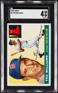 Baseball Cards:Singles (1950-1959), 1955 Topps Ted Williams #2 SGC VG/EX 4....