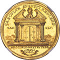 "German States:Hamburg, German States: Hamburg. Free City gold ""Peace of Versailles"" Medal of 5 Ducats 1763 MS63 NGC, ..."