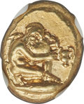 Ancients: MYSIA. Cyzicus. Ca. 450-350 BC. EL sixth-stater or hecte (11mm, 2.70 gm). NGC Choice AU 5/5 - 3/5, Fine Style...