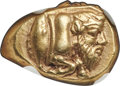 Ancients: MYSIA. Cyzicus. Ca. 450-350 BC. EL sixth-stater or hecte (13mm, 2.67 gm). NGC Choice XF★ 5/5 - 4/5