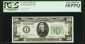 Small Size:Federal Reserve Notes, Fr. 2056-I $20 1934B Federal Reserve Note. PCGS Choice About New 58PPQ.. ...
