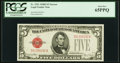Small Size:Legal Tender Notes, Fr. 1531 $5 1928F Narrow Legal Tender Note. PCGS Gem New 65PPQ.. ...