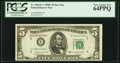 Fr. 1964-E* $5 1950C Federal Reserve Star Note. PCGS Very Choice New 64PPQ