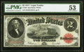 Large Size:Legal Tender Notes, Fr. 60 $2 1917 Legal Tender PMG About Uncirculated 53.. ...