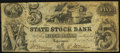 Obsoletes By State:Indiana, Logansport, IN- State Stock Bank $5 Oct. 20, 1852 Fine.. ...