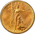 Saint-Gaudens Double Eagles, 1908-D $20 No Motto MS66 PCGS. CAC....