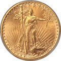 Saint-Gaudens Double Eagles, 1908-D $20 Motto MS66+ PCGS....