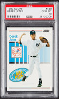 Baseball Cards:Singles (1970-Now), 1993 Score Derek Jeter (Draft Pick) #489 PSA Gem Mint 10....
