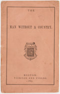 Books:Literature Pre-1900, [Edward Everett Hale]. The Man Without a Country. Boston: Ticknor and Fields, 1865. First edition, first issue (without the ...