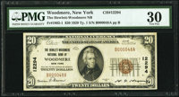 Woodmere, NY - $20 1929 Ty. 1 The Hewlett-Woodmere National Bank Ch. # 12294 PMG Very Fine 30.<