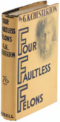 Books:Mystery & Detective Fiction, G. K. Chesterton. Four Faultless Felons. London: Cassell & Company, Ltd., [1930]. First edition.. ...