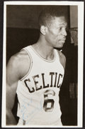 Autographs:Post Cards, 1957 Bill Russell Handwritten & Dual-Signed Photo Postcard...
